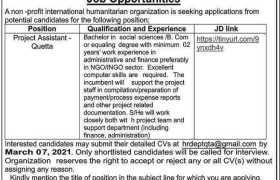 International Humanitarian Organization Jobs 2021
