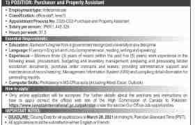 Canadian High Commission Islamabad Jobs 2021