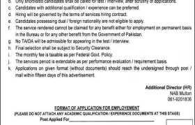 Jobs in National Accountability Bureau Multan 2021