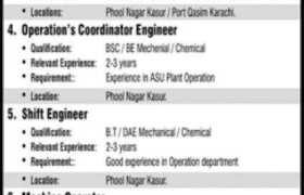 Ghani Chemical Industries Limited Jobs 2021