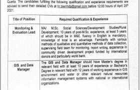 Private Sector Organization Quetta Jobs 2021