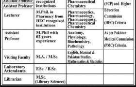 Jobs in Akhtar Saeed College of Pharmacy 2021