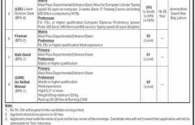 Jobs in Ammunition Depot Niaz Beg Lahore 2021