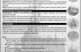 Jobs in Bahria Foundation Rawalpindi 2021