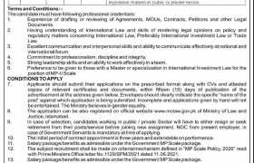 Ministry of Law & Justice Jobs 2021