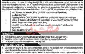 KPITB Peshawar Jobs 2021