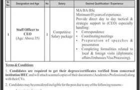 NHT Pvt Ltd Jobs 2021
