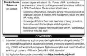 NUML Islamabad Jobs 2021