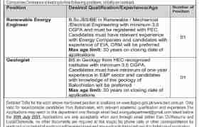 Jobs in Balochistan Energy Company Limited 2021