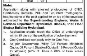 Works & Services Department Sindh Jobs 2021