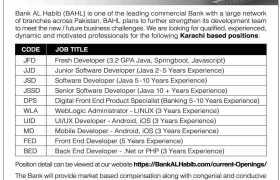 Bank AL Habib Careers 2021