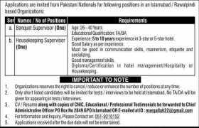 Islamabad Based Organization Jobs 2021