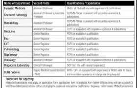 The University of Lahore Jobs 2021