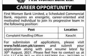 Jobs in First Women Bank Limited Karachi 2021