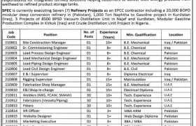 SPEC Energy DMCC Jobs 2021
