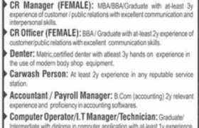 3S Car Dealership Jobs in Lahore 2021