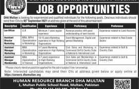 Jobs in DHA Multan 2021