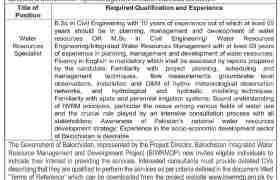 Project Based Jobs in Balochistan 2021
