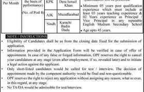 Overseas Pakistanis Foundation Jobs 2021