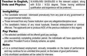 Jobs in Fazaia Inter College Rawalpindi 2021