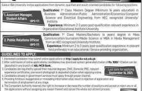 Sukkur IBA University Jobs 2021