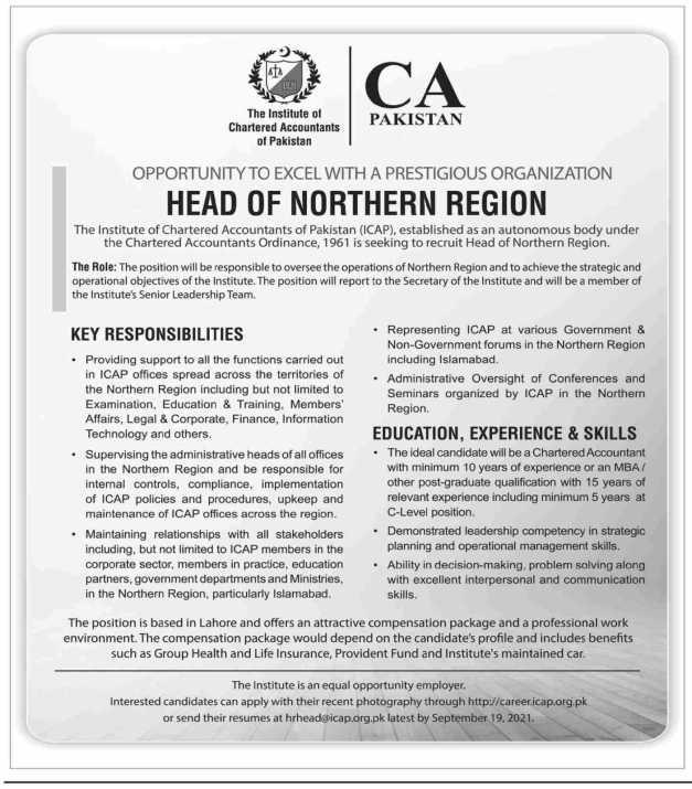 ICAP Islamabad Jobs 2021