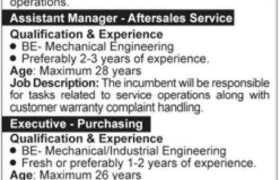 Jobs in Honda Atlas Cars Pakistan 2021