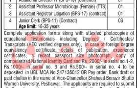 SBBWU Peshawar Jobs 2021