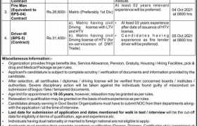 Public Sector Organization Karachi Jobs 2021