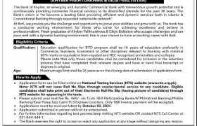 The Bank of Khyber Internships 2021