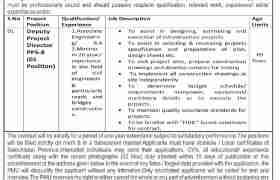 Jobs in Project Management Unit Quetta 2021