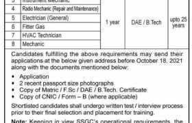 SSGC Apprenticeship Training 2021
