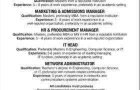 Jobs in Qarshi University Lahore 2021