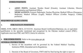 Jobs in PIMS Islamabad 2021