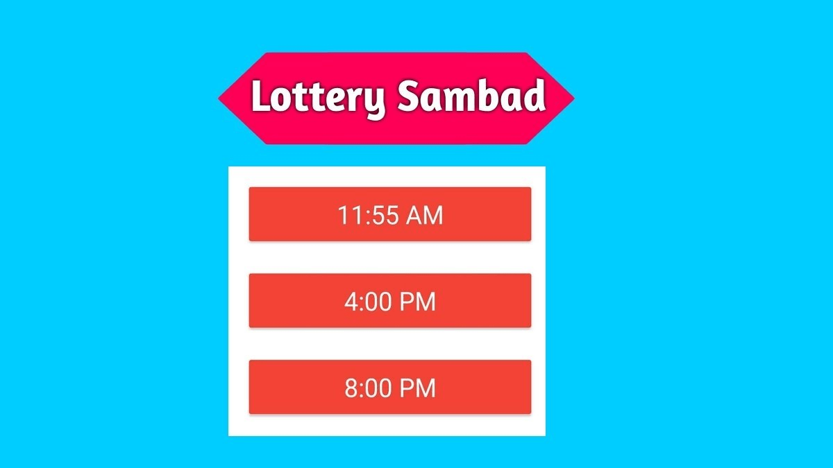 Lottery Sambad 12 Tarik Today Result Live 12.05.2021 11:55AM, 4PM, 8PM
