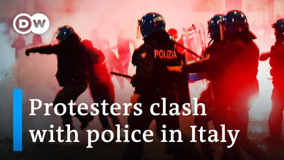 Violent protests erupt in Italy over coronavirus restrictions | DW Information