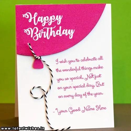 Handmade Wish Birthday Card With Name