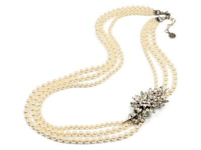 BEN AMUN PEARL NECKLACE WITH PENDANT http://bit.ly/1bygmlQ