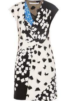 DIANE VON FURSTENBERG Porsha printed silk dress http://goo.gl/MCu6jB