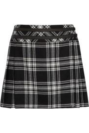 KARL LAGERFELD Veronica tartan wool mini skirt http://goo.gl/Qd3X6f