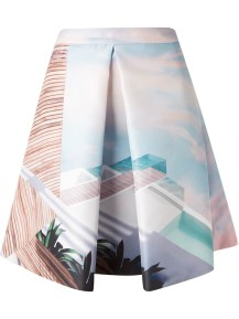 MARY KATRANTZOU 'Seagauge' printed skirt http://goo.gl/OMvgam