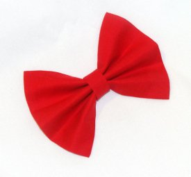 Loretta Jo's Red Hair Bow Vintage Inspired Hair Clip Rockabilly Pin up Teen Woman
