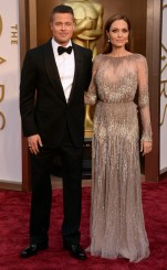 BRAD PITT & ANGELINA JOLIE In Tom Ford (Pitt) and Elie Saab Haute Couture (Jolie)