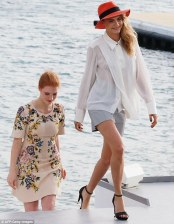 Cara Delevingne and Jessica Chastain
