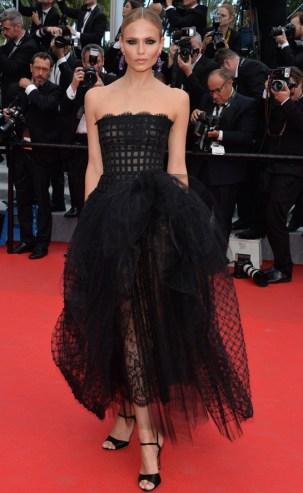 L'Oréal Paris muse Natasha Poly in Oscar de la Renta Spring/Summer 2014