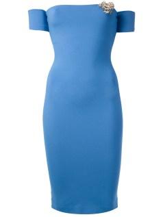 DSQUARED2 fitted off-shoulder dress