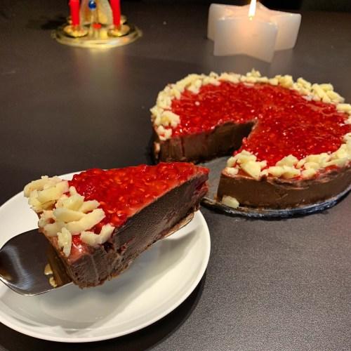 malinový raw dort raw čokoládovomalinový dort vegan