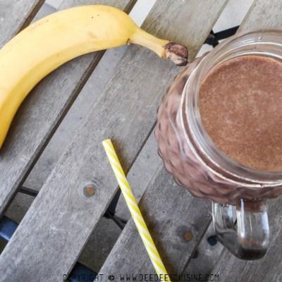 Délicieux smoothie chocolat banane