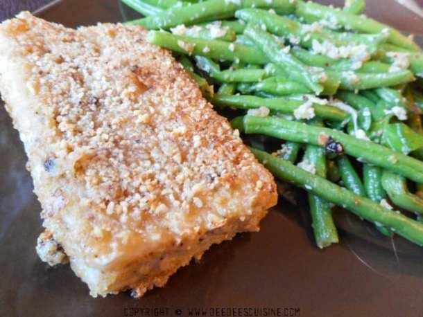 poisson pané sans friture a l'amande