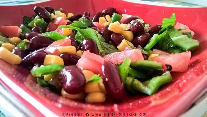 Salade de haricots rouges